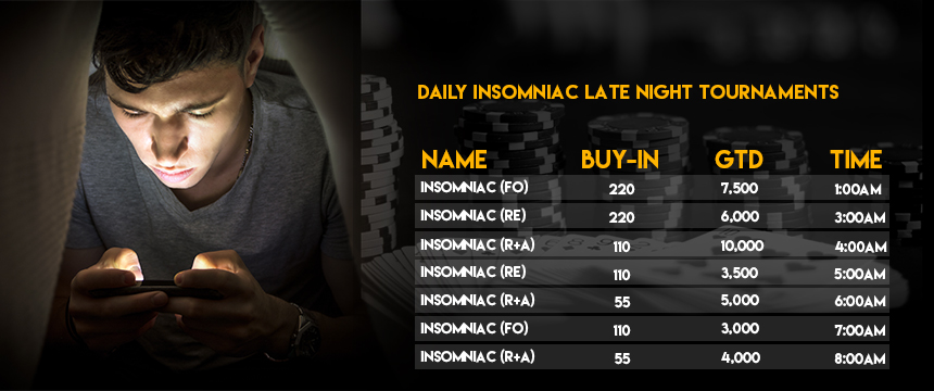 Daily Insomniac Late Night Tournaments